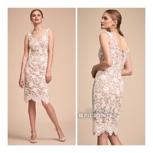BHLDN Hansel Dress NWT Size 16 Lace Ivory Nude